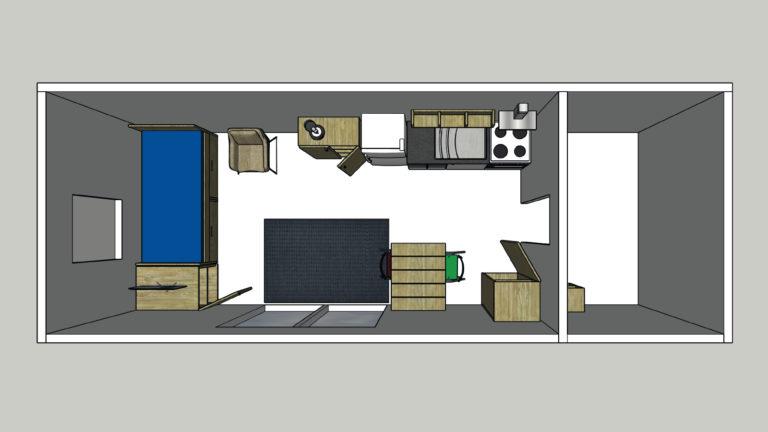 Berucht Project Sketchup indelingstekening plattegrond